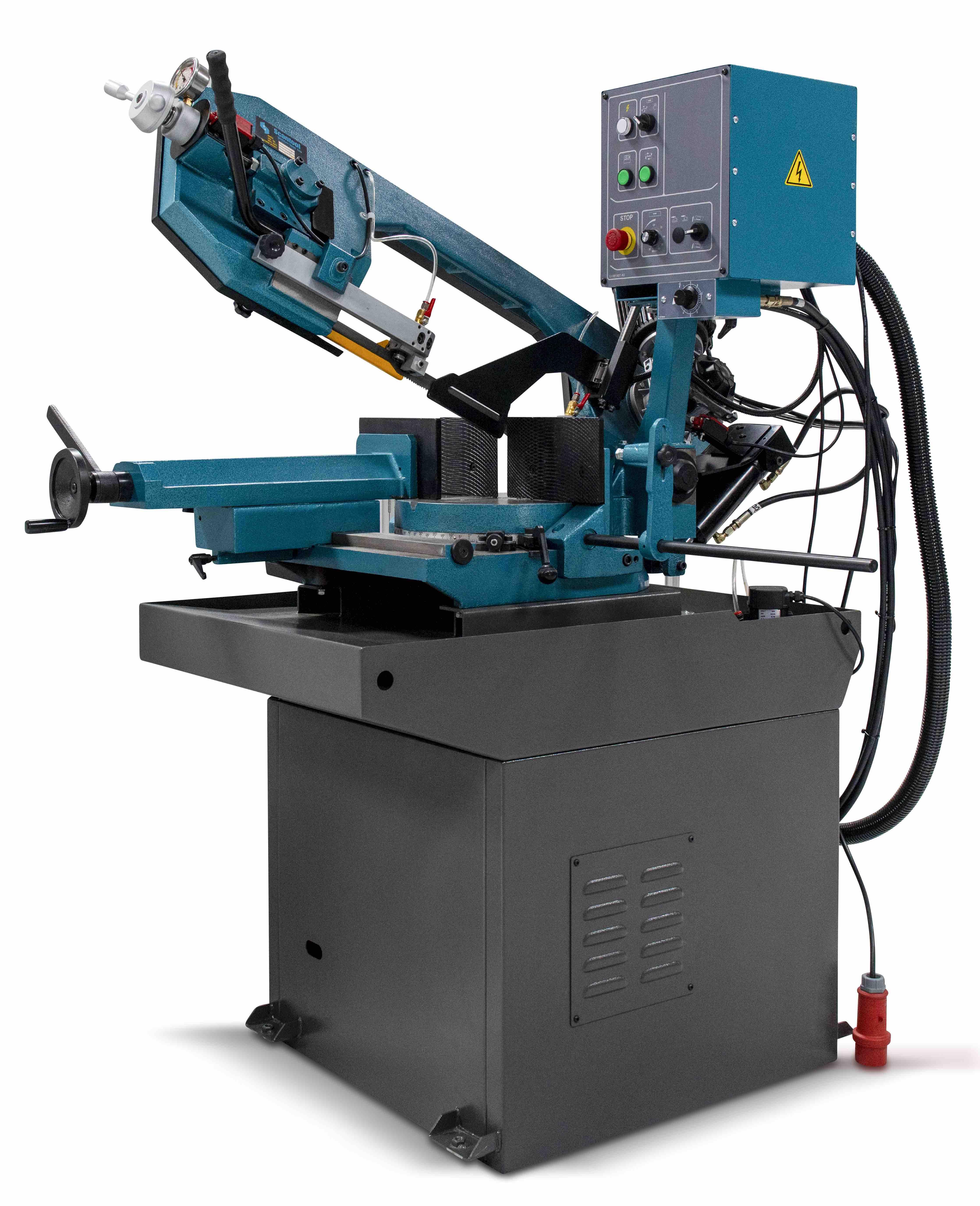 Półautomatyczna przecinarka taśmowa do cięcia metalu pod kątami Scantool Model 320 GSHT