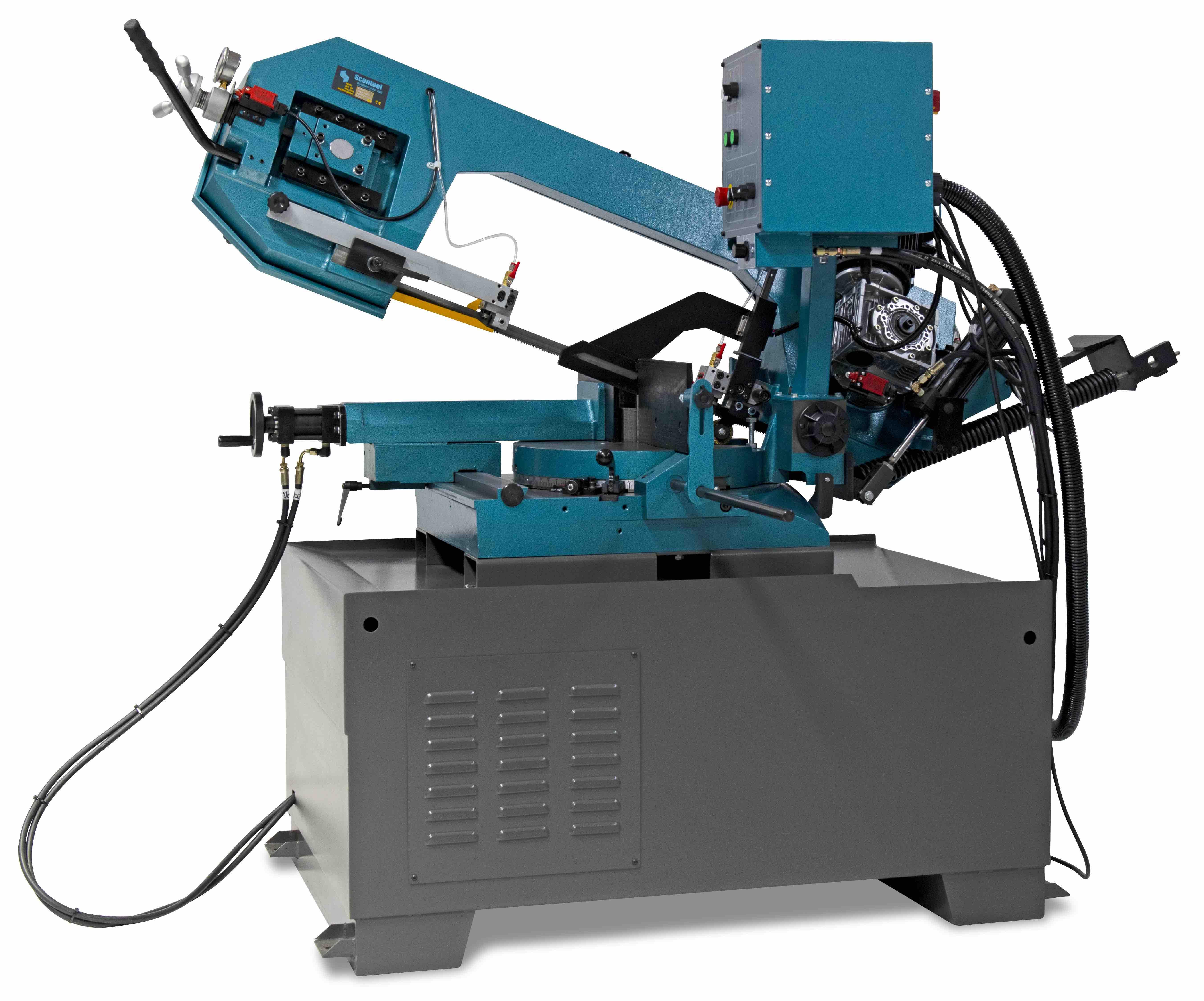 Półautomatyczna przecinarka taśmowa do cięcia metalu pod kątami Scantool Model 420 GSHT