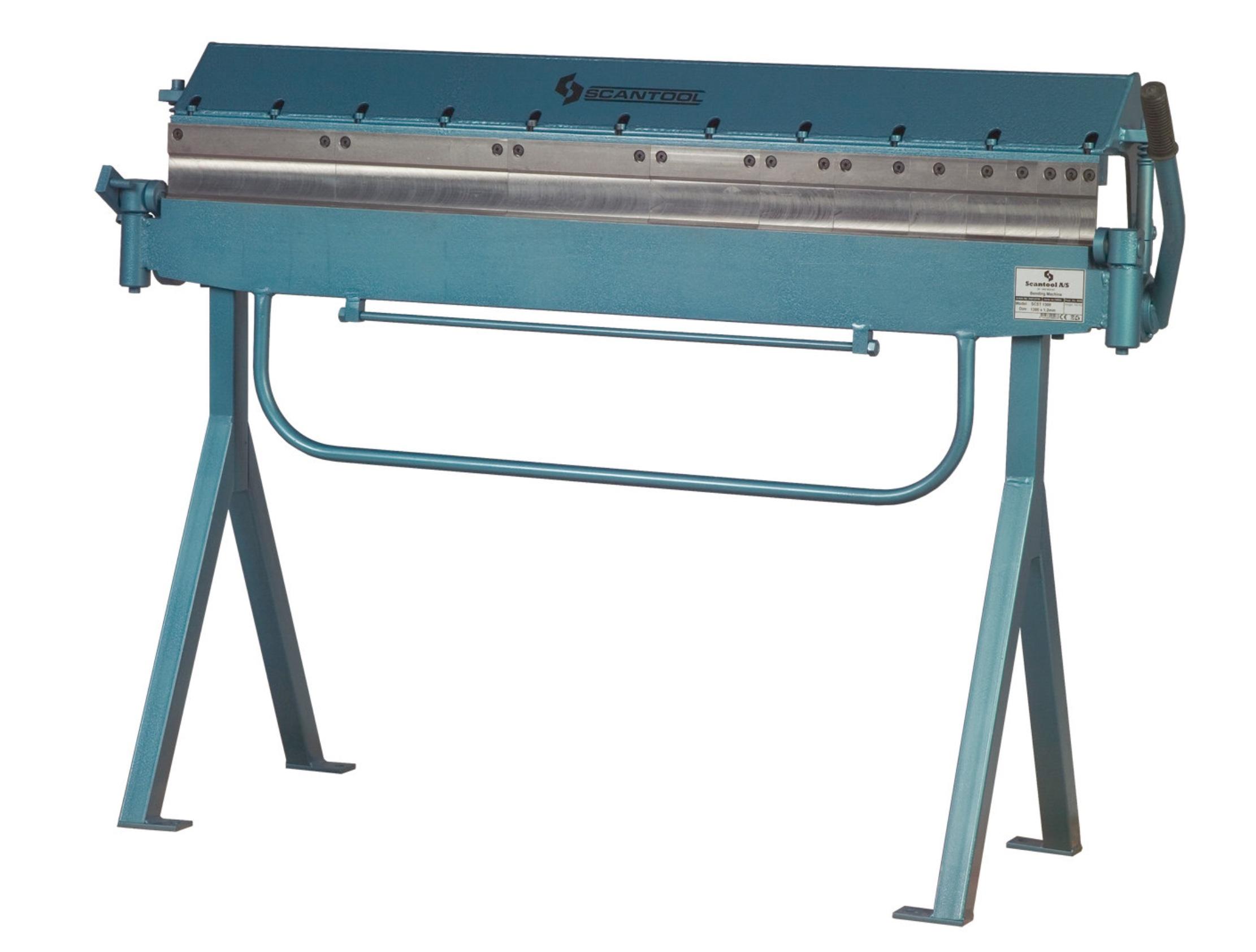Ręczna zaginarka do blachy Scantool SCST 1300, giętarka manualna - długość robocza 1300 x 1,20mm