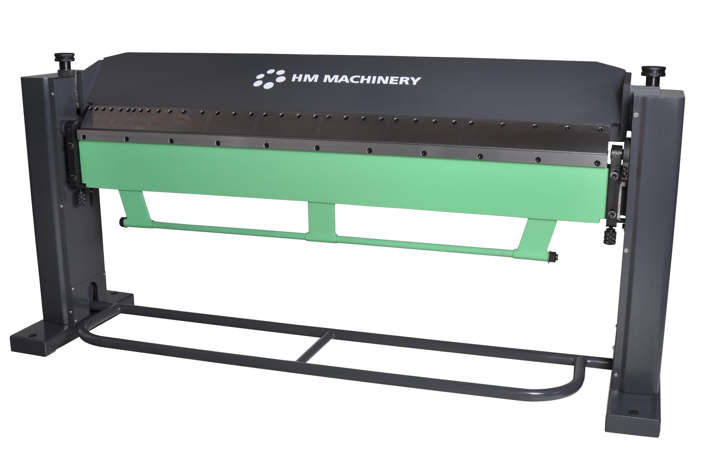 Manualna zaginarka do blachy Scantool - HM Machinery 7S, giętarka ręczna/nożna - długość robocza 2020 x 1,50mm
