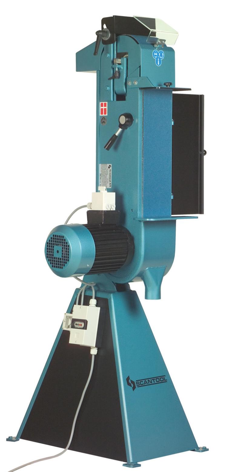 Szlifierka taśmowa Scantool 75V do pracy w pionie - 3,6 kW