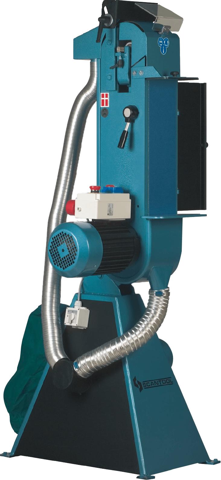 Szlifierka taśmowa Scantool 150VX do pracy w pionie z wbudowanym odciągiem pyłów - 3,6 kW