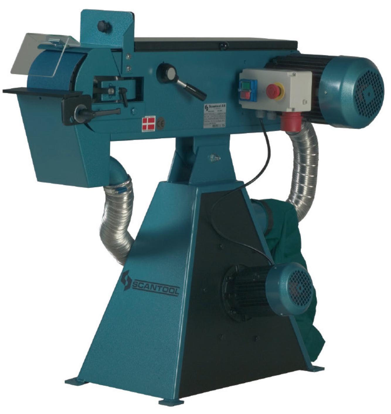 Szlifierka taśmowa Scantool 150x2000mm z wbudowanym odciągiem pyłów - 3,6 kW