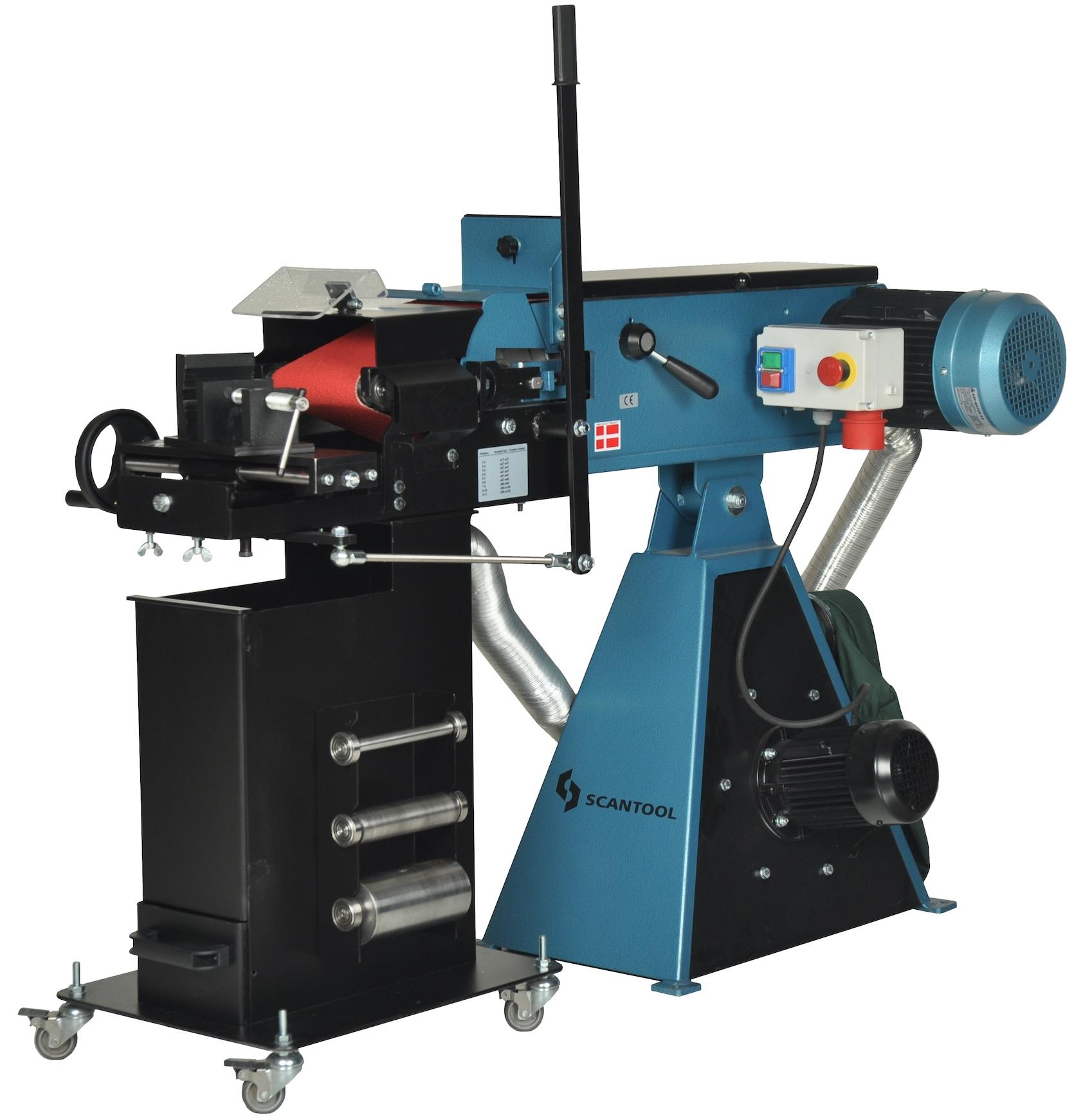 Szlifierka taśmowa Scantool RBX 150x2000mm do nacinania i obróbki rur na przenikanie z odciągiem pyłów - 3,6 kW