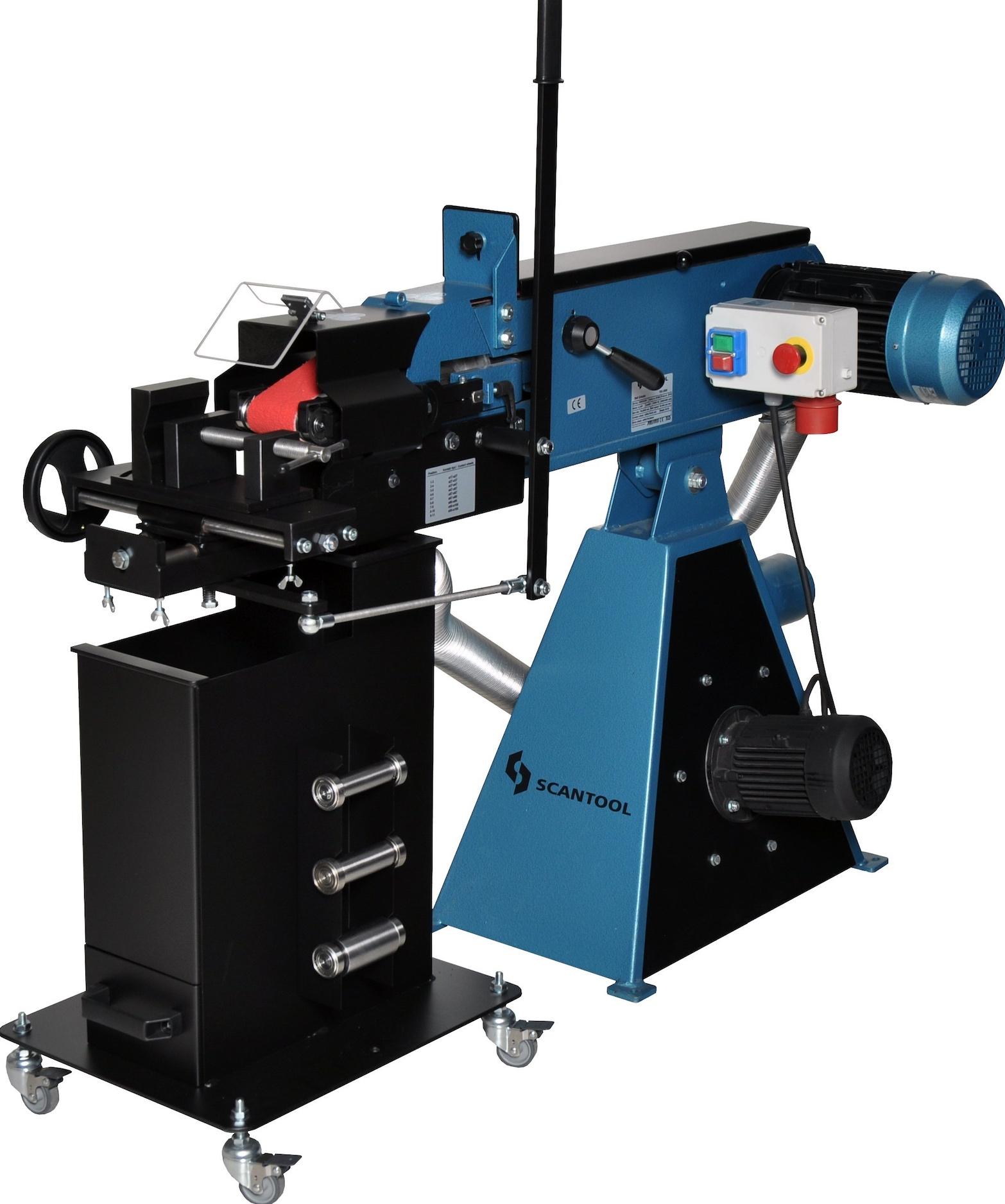 Szlifierka taśmowa Scantool RBX 75x2000mm do nacinania i obróbki rur na przenikanie z odciągiem pyłów - 3,0 kW