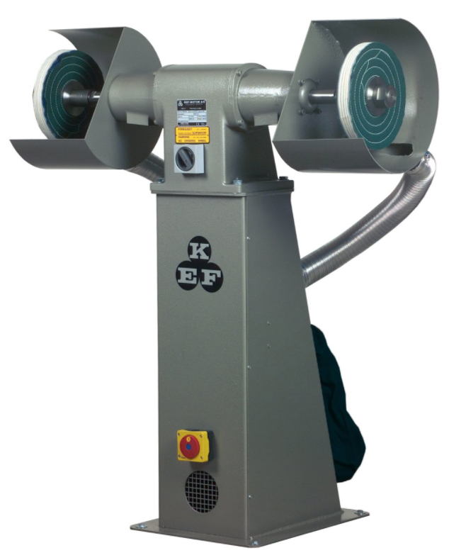 Polerka przemysłowa KEF Motor Model POD 10 - 2,0 kW - na podeście z odciągiem pyłów