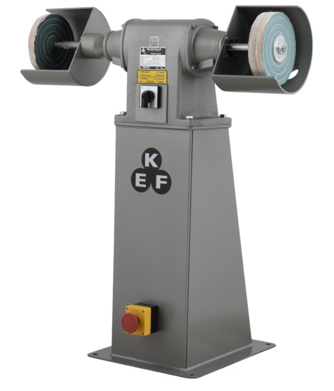 Polerka przemysłowa KEF Motor Model POD 8 - 1,5/2,0kW - 2 prędkości wrzeciona - na podeście