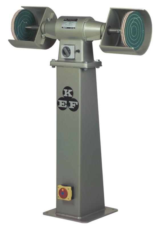 Polerka przemysłowa KEF MOTOR Model POD 5 - 1,1 kW - na podeście z falownikiem
