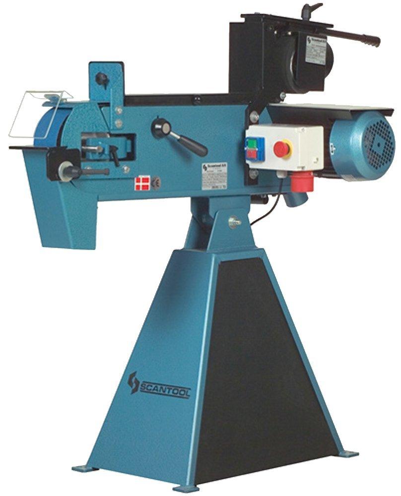 Szlifierka taśmowa Scantool 75CG z przystawką do obwiedniowego szlifowania rur 6-120mm - 3,0 kW