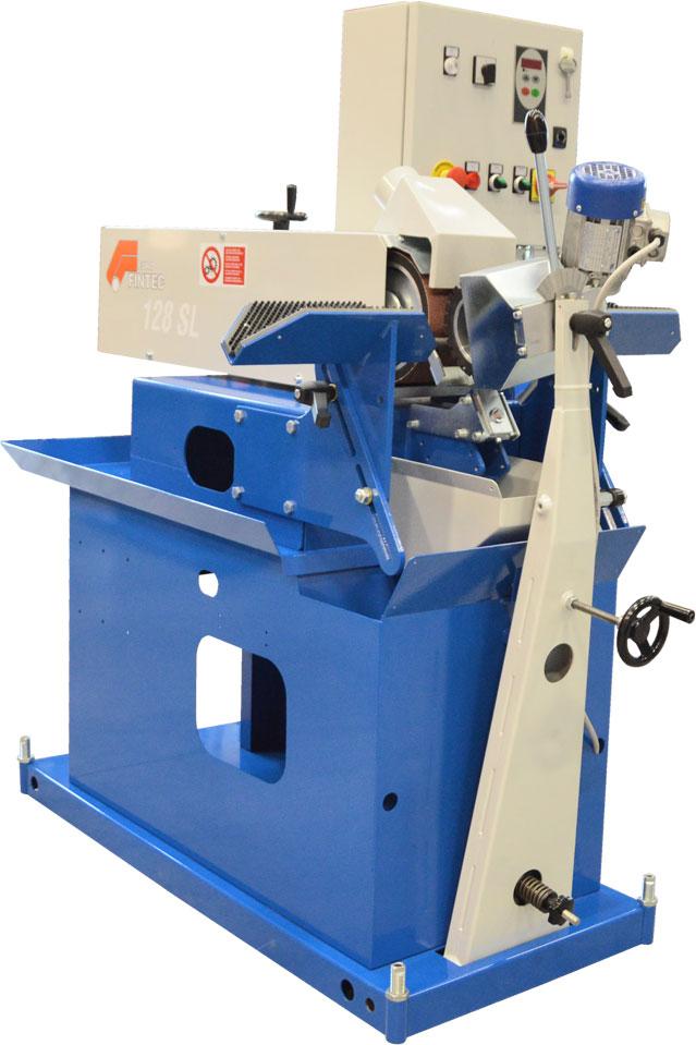 Szlifierka taśmowa do obwiedniowego szlifowania i polerowania rur Gecam Model 128S/SL