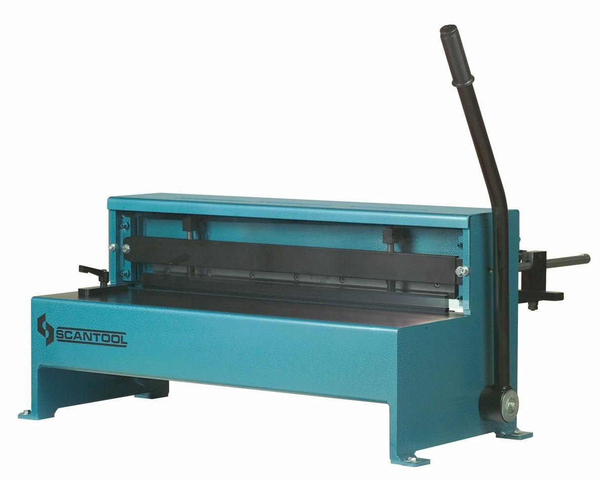 Manualna gilotyna do blachy Scantool TSM 650, gilotyna ręczna/nożna - długość robocza 650 x 1,25mm