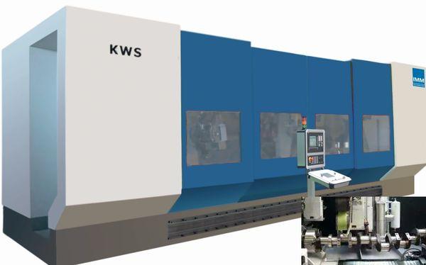 Szlifierko-polerka KWS do obróbki wytłaczarek bębnowych i elementów silników elektrycznych