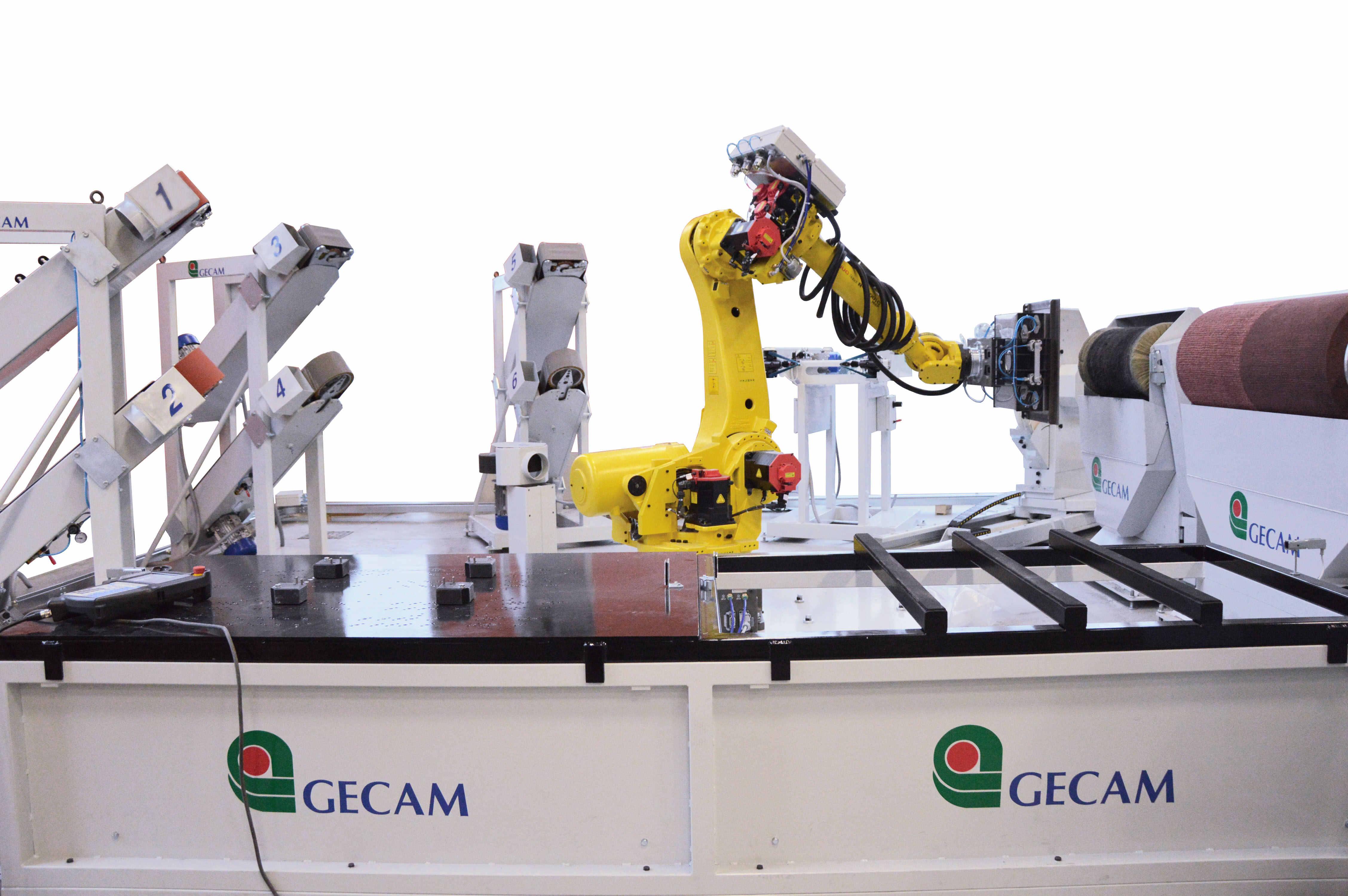 System zrobotyzowany do satynowania i polerowania GECAM